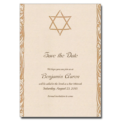 Antique Linen Invitation