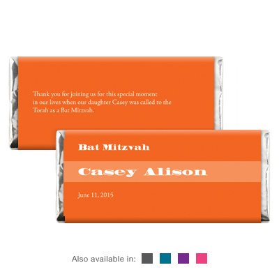 Basic Color Bar Mitzvah Candy Wrapper