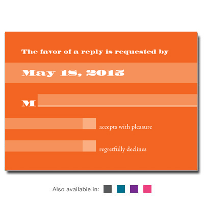 Basic Color Bar Mitzvah Response Card