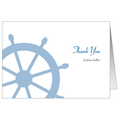 Boarding Pass Bar Mitzvah Thank You Card