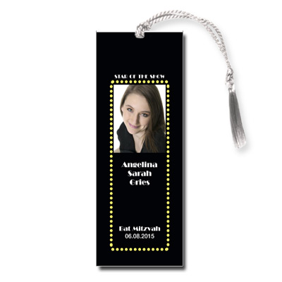Broadway Ticket Bar Mitzvah Bookmark