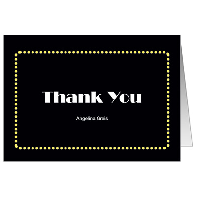 Broadway Ticket Bar Mitzvah Thank You Card