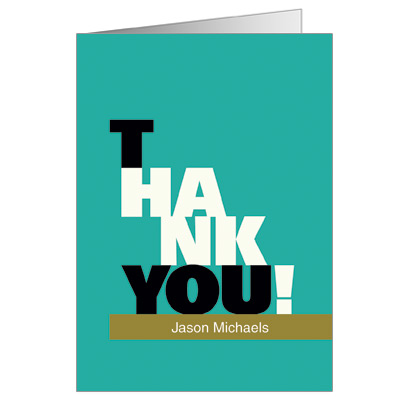 Escalade Olive Bar Mitzvah Thank You Card