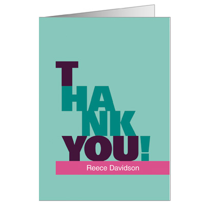 Escalade Pink Bat Mitzvah Thank You Card