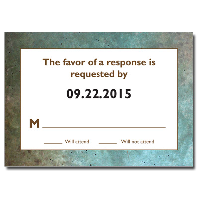 Granite Grunge Bar Mitzvah Response Card