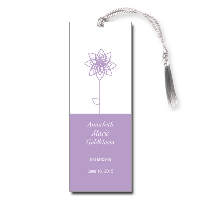 Lavender Blooms Bat Mitzvah Bookmark
