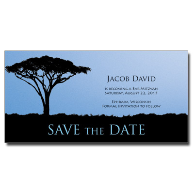Life Save the Date Bar Mitzvah Card With Magnet