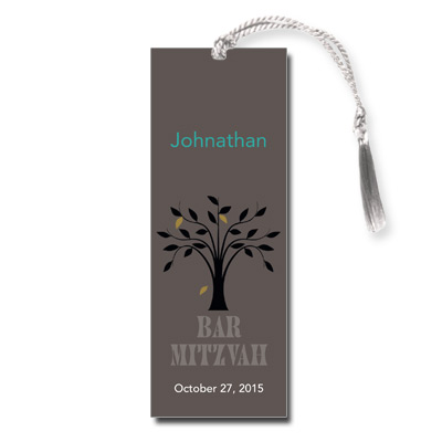 Living Tree Boy Bar Mitzvah Bookmark