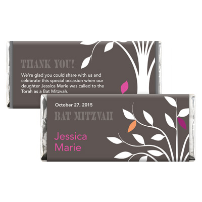 Living Tree Girl Bat Mitzvah Candy Wrapper