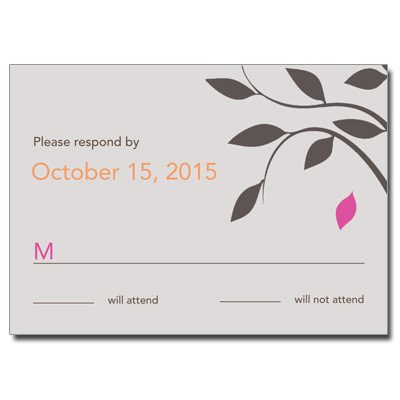 Living Tree Girl Bat Mitzvah Response Card