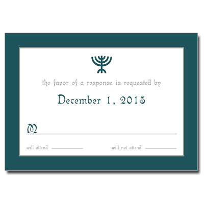 Menorah Bar Mitzvah Response Card