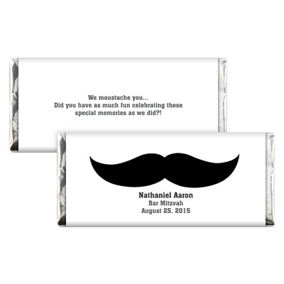 Moustache Bar Mitzvah Candy Wrapper