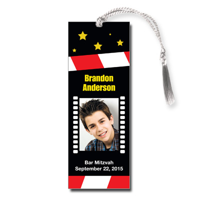 Movie Star Theme Bar Mitzvah Bookmarks