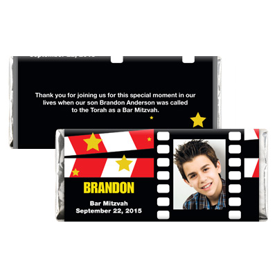 Movie Star Theme Bar Mitzvah Candy Wrapper