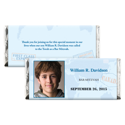 Passport Bar Mitzvah Candy Wrapper