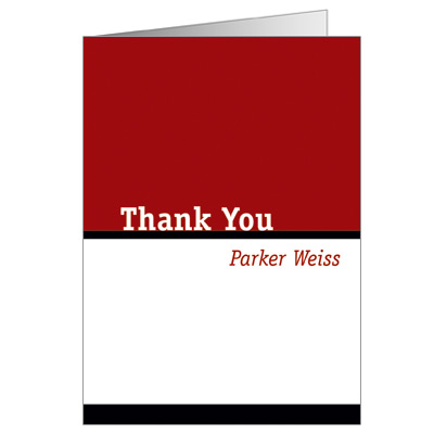 Simply Striking Bar Mitzvah Thank You Card