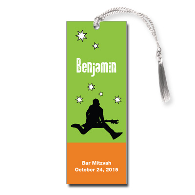 Rock Star Bar Mitzvah Bookmark