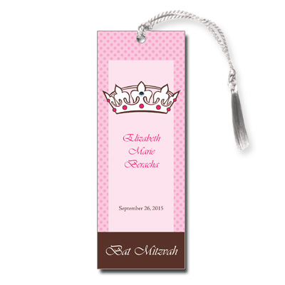 royal bat mitzvah bookmark bat mitzvah and bar mitzvah bookmarks
