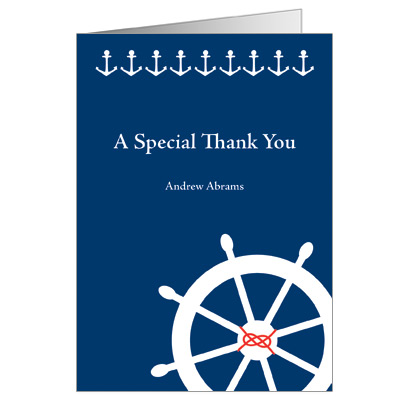 Sail Away Bar Mitzvah Thank You Card