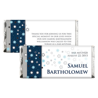 Shining Stars Bar Mitzvah Candy Wrapper