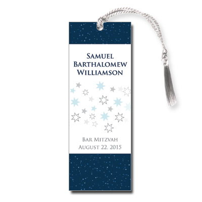 Shining Stars Bar Mitzvah Bookmark