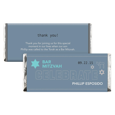 Six Points Bar Mitzvah Candy Wrapper
