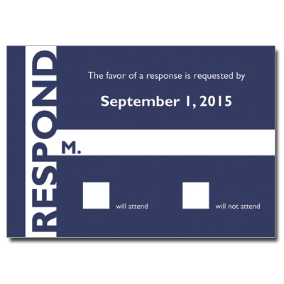 Sleek Stripe Bar Mitzvah Response Card