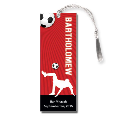 Soccer Themed Bar Mitzvah Bookmark