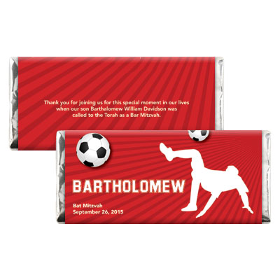 Soccer Themed Bar Mitzvah Candy Wrapper