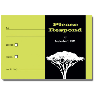 Tree Of Initiation Bar Mitzvah Response Card