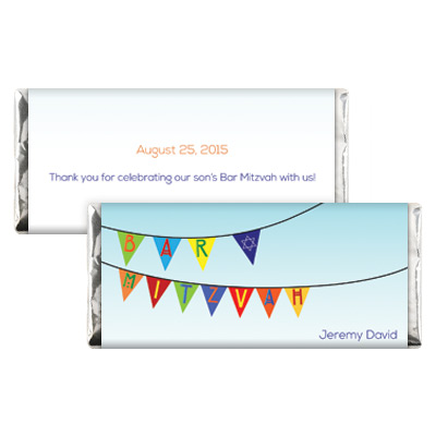 Fiesta Flag Bar Mitzvah Candy Wrapper