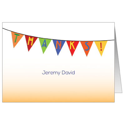 Fiesta Flag Bar Mitzvah Thank You Card
