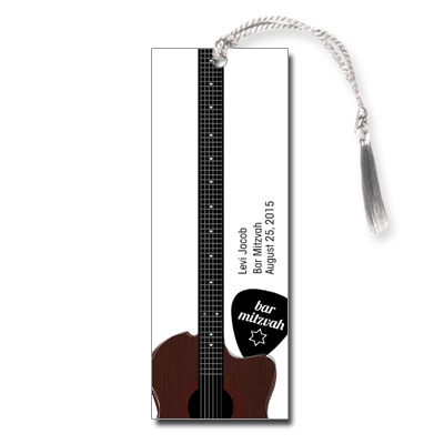 Acoustic Guitar Strings Bar Mitzvah Bookmark