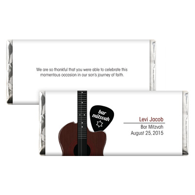 Acoustic Guitar Strings Bar Mitzvah Candy Wrapper