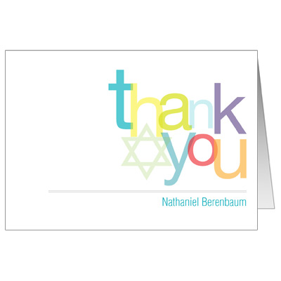 iMitzvah Bar Mitzvah Thank You Card
