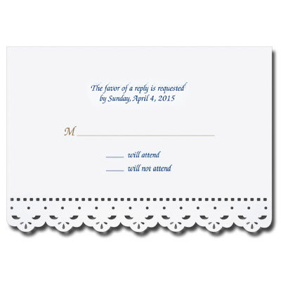 Lace Cut Bar Mitzvah Response Card