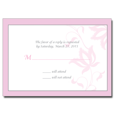 Jeweled Star Necklace Bat Mitzvah Reply Card