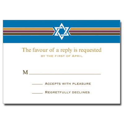 Photo Stripes Bar Mitzvah Response Card