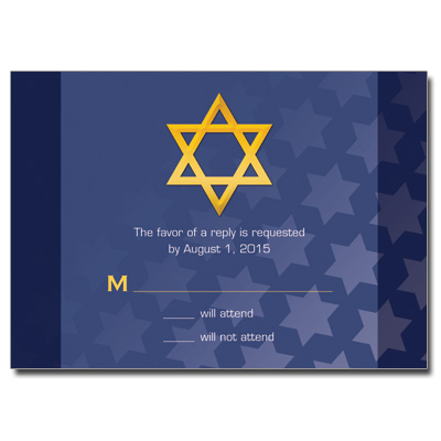 Reflection Bar Mitzvah Response Card