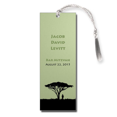 Tree of Life Bar Mitzvah Bookmark
