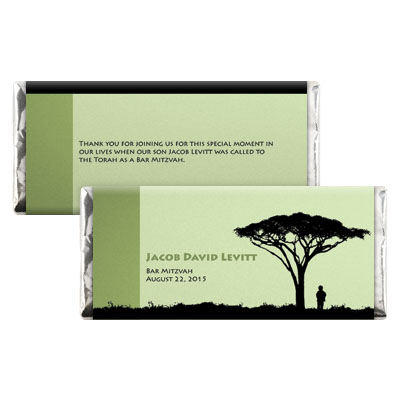 Tree of Life Bar Mitzvah Candy Wrapper
