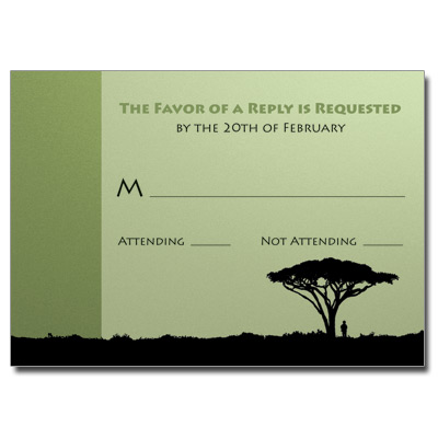 Tree of Life Bar Mitzvah Response Card