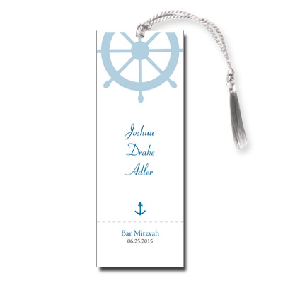 Boarding Pass Bar Mitzvah Bookmark
