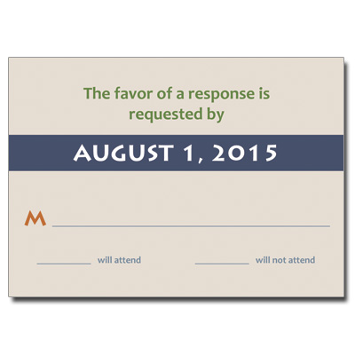 Chai Bar Mitzvah Response Card