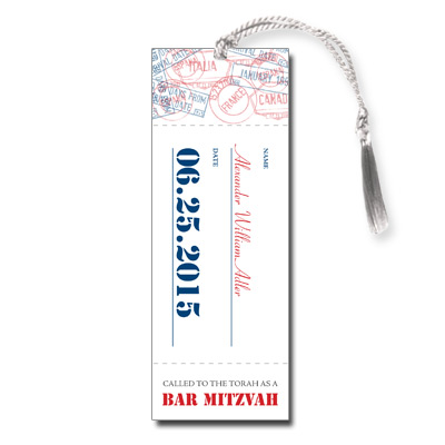 Flight Pass Bar Mitzvah Bookmark