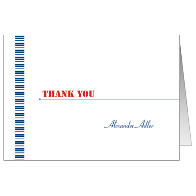 Flight Pass Bar Mitzvah Thank You Card