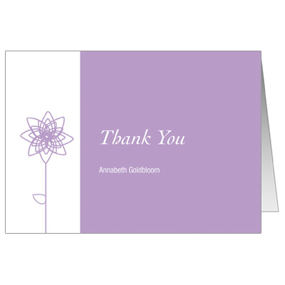 Lavender Blooms Bat Mitzvah Thank You Card