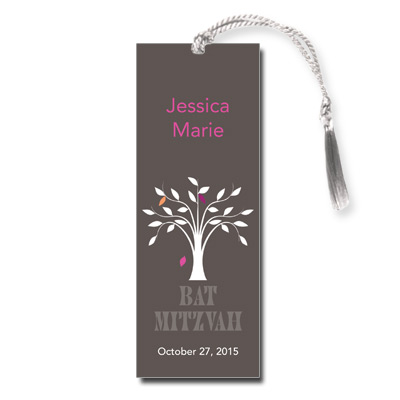 Living Tree Girl Bat Mitzvah Bookmark