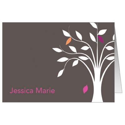Living Tree Girl Bat Mitzvah Thank You Card
