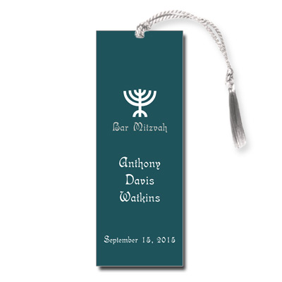 Menorah Bar Mitzvah Bookmark
